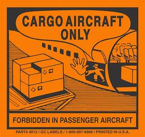 cargo aircraft only label With cargo aircraft only label