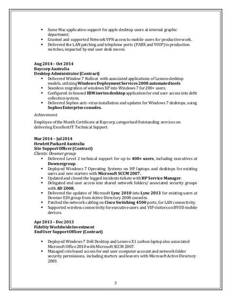 Desktop Support Resume by Resume Desktop Support Updated