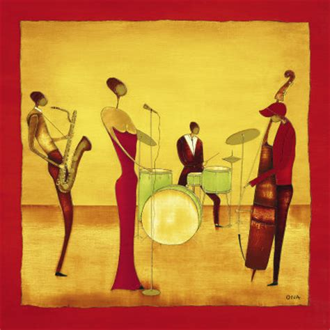 thierry ona jazz band   painting gallery