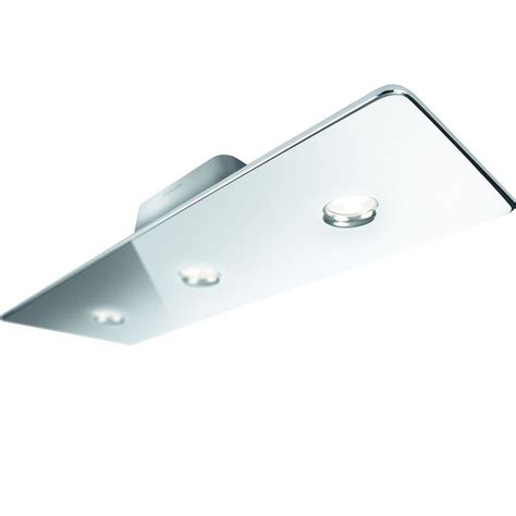 philips tabla 3 light chrome led ceiling flushmount