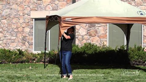 coleman instant canopy youtube