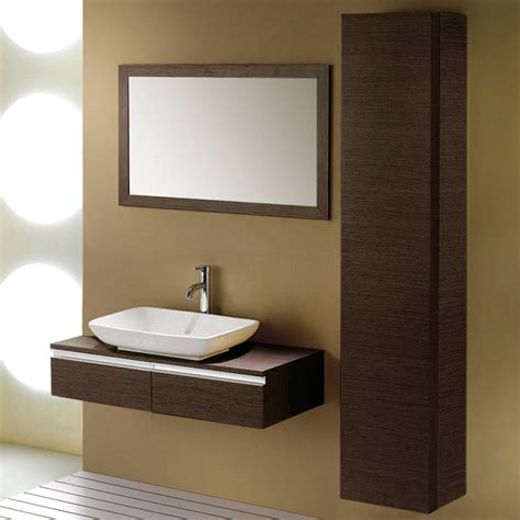 bathroom wall vanity cabinets zhi wall mount console vanity for vessel sink bathroom