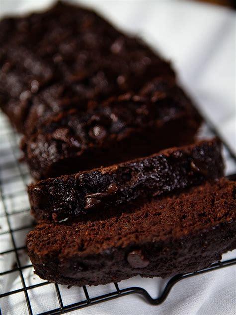 vegan chocolate zucchini bread healthy food