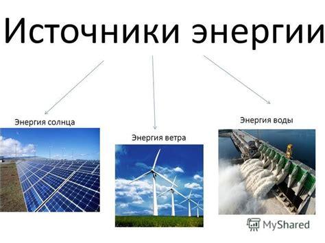 1. основные источники энергии что используются человечеством