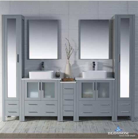 blossom   double vanity set sydney metal grey