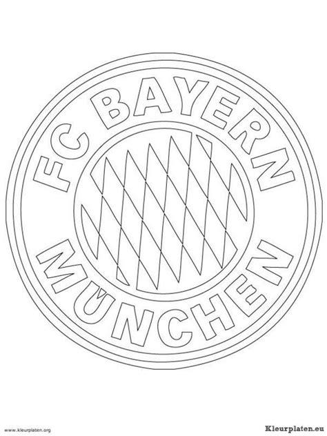 Kleurplaat Bayermunchen fc bayern munchen kleurplaten kleurplaten eu