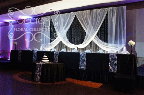black and white wedding decor black and white damask