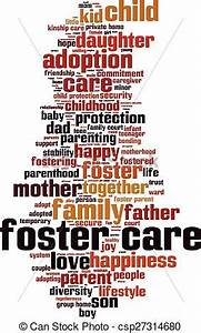 Vector of Foster care word cloud concept. Vector ...