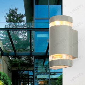 cylinder up down indoor outdoor exterior wall light sconce l fixture kit ebay