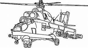 Army Apache Helicopter Coloring Pages