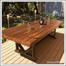 Diy Large Outdoor Dining Table  Pinspired To Diy