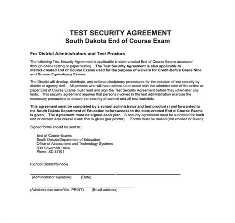 sample security agreement templates  google