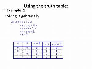 Solving Truth Tables
