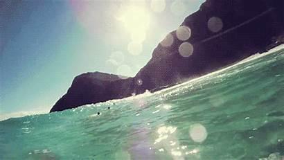 Beach Ocean Island Gifs Water Paradise Sea