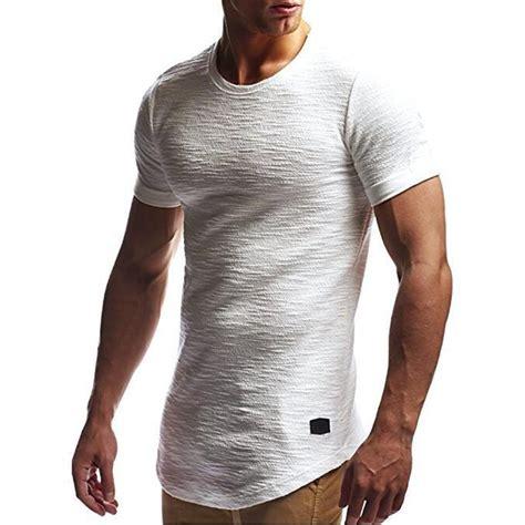 mens slim fit  neck short sleeve muscle tee  shirt