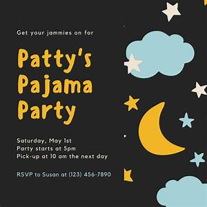 Customize 4 002  Pajama Party Invitation Templates Online