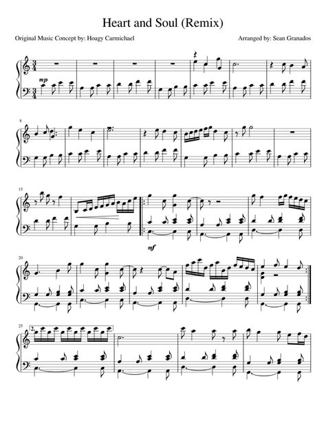 Play free piano lessons online preliminary heart and soul for beginners h0351887 318062 leaf music … Heart and soul remix Sheet music for Piano | Download free ...