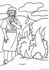 Coloring Bible Sunday Moses Burning Bush Story Crafts Activities Ones Printable Craft Preschool Printables Moises Tree Lessons Stories Sheet Momjunction sketch template
