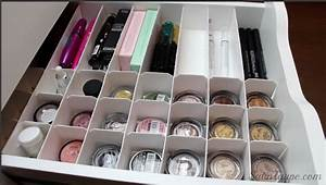 Rangement Maquillage Tiroir : astuces rangement maquillage diy ~ Teatrodelosmanantiales.com Idées de Décoration