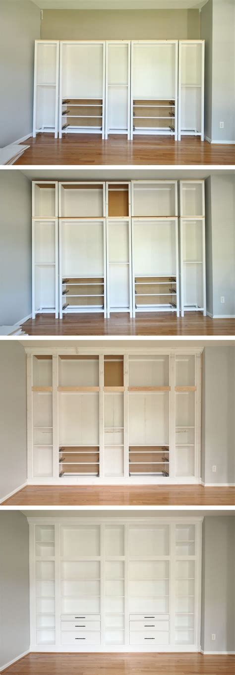 Ikea Hack Kücheninsel by Ikea Hack Diy Built In Bookcase With Hemnes Furniture