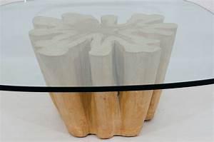 elegant cypress tree trunk coffee table at 1stdibs With tree trunk coffee table with glass top