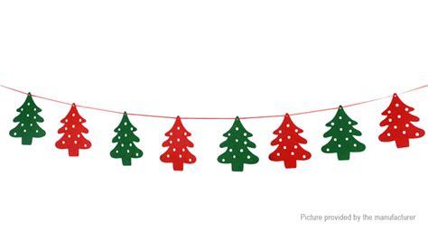 2 02 christmas tree styled bunting banner flag christmas