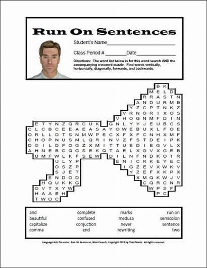 Run Sentences Word Lesson Words Mini Activity