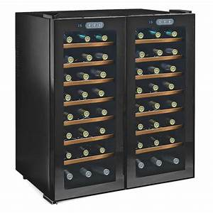 Wine Enthusiast Silent 48-Bottle Dual Zone Wine Cooler ...