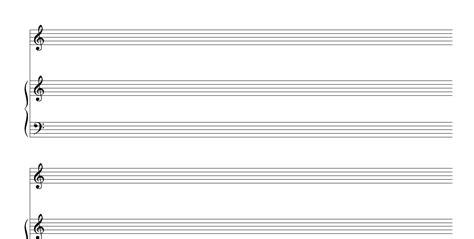 Manuscript Template by Free Manuscript Blank Piano Vocal Staff Pdf