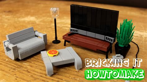 how to make lego modern living room furniture 2 0 moc