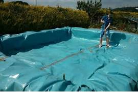 making swimming pools build your own swimming pool from bales of hay home design - Design Your Own Swimming Pool