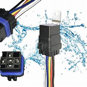 Buy 1 Pack 40  30 Amp 12v Dc 5-pin Automotive Waterproof Relay Switch Set