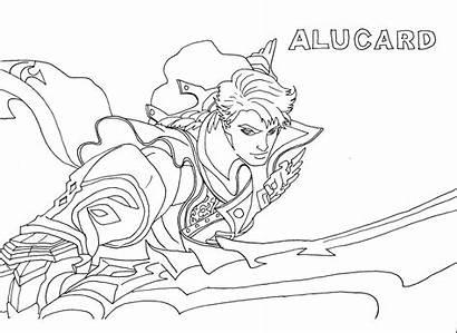 Legends Mobile Coloring Pages Alucard