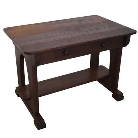 Antique Mission Oak Library Table Chairish