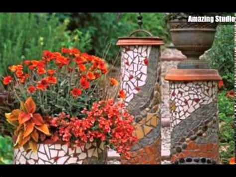 Garten Blumentöpfe Mosaik Entwurf Youtube