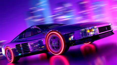 Car Wallpaper Retro by Artstation Testarossa Retrowave Style Arslan