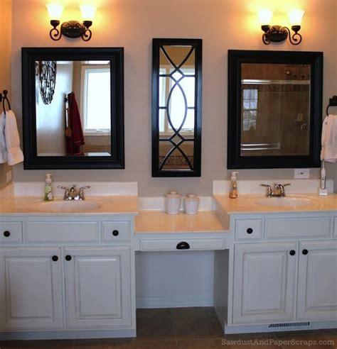 bathroom vanity with makeup counter house tour master bathroom sawdust 174