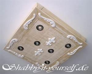 Deckenlampe Shabby Chic : so habe ich einen tisch zu einer vintage deckenlampe gemacht ~ Frokenaadalensverden.com Haus und Dekorationen