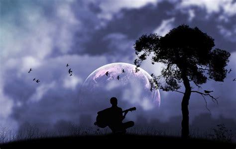fondo pantalla fantasia musica noche