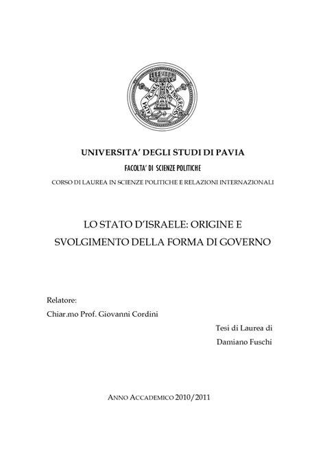 Università Di Pavia Scienze Politiche by Universita Degli Studi Di Pavia Facolta Di Scienze
