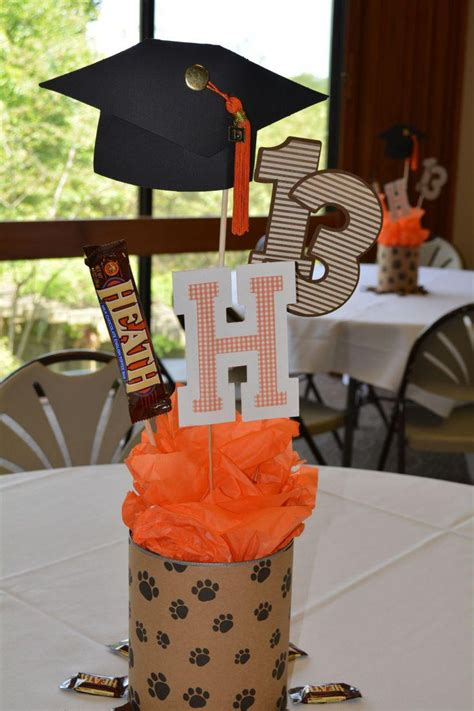 ideas homemade centerpiece for parties my home design 35 fascinating graduation centerpieces ideas table
