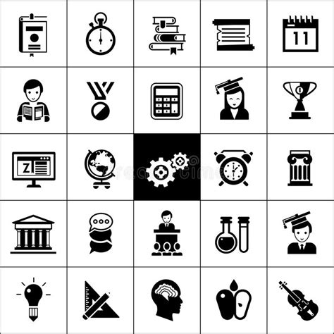 13306 black resume icons icons black stock vector illustration of