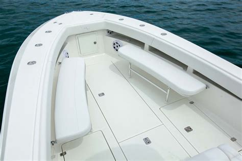 Custom Boat Seating Bench by Center Consoles 340z Details Seavee Boats