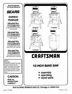 Craftsman 113 248510 User Manual