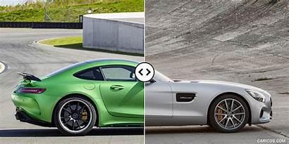 Amg Mercedes Gt Side Comparison Quarter Three