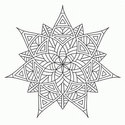 Coloring Pages Geometric Cool Adults Printable Popular