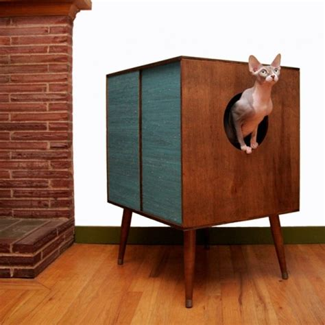 cool ways  hide  cat litter box digsdigs