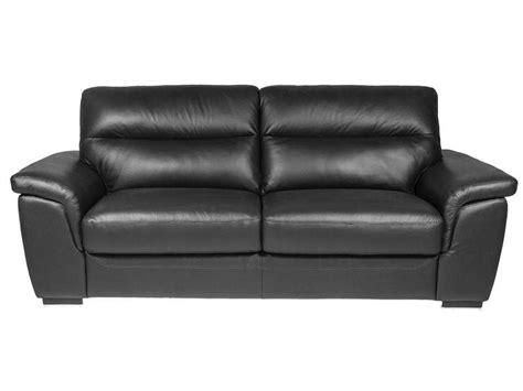 canape en cuire canapé fixe 3 places en cuir coloris noir vente
