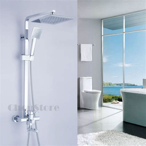 wall mounted  shower faucet set  tub spout overhead