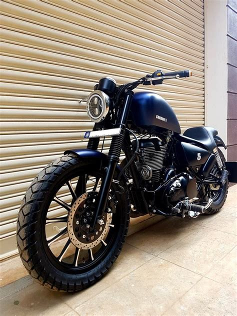 Modification Royal Enfield Bullet 350 by Royal Enfield Modified Carbon Ss Lite Bulleteer Customs